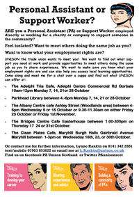 UNISON PA Meetings in Glasgow October 2013